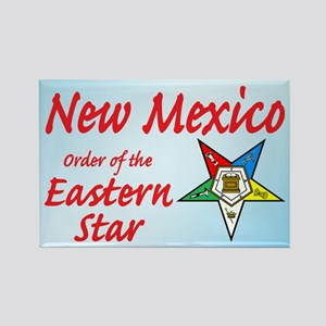 New Mexico Eastern Star Rectangle Magnet