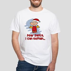 Dear Santa Bad Angel White T-Shirt