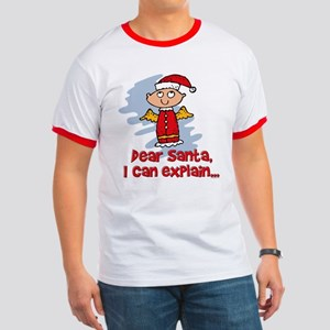 Dear Santa Bad Angel Ringer T