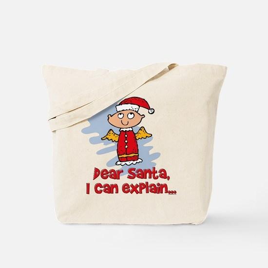 Dear Santa Bad Angel Tote Bag