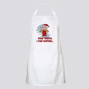 Dear Santa Bad Angel BBQ Apron