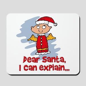 Dear Santa Bad Angel Mousepad