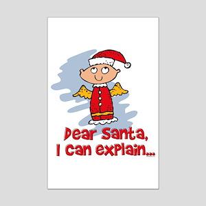 Dear Santa Bad Angel Mini Poster Print