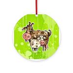 nanny goat Ornament (Round)