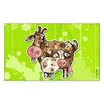 nanny goat Rectangle Sticker