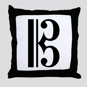 C Clef Throw Pillow