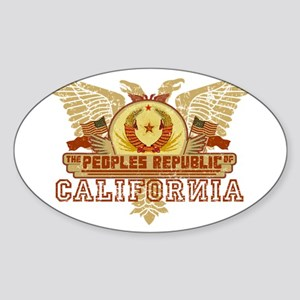 Peoples Rep Of CA Oval Sticker