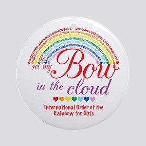 IORG-Bow in the Cloud Ornament (Round)