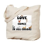 Cat Love Comes Tote Bag