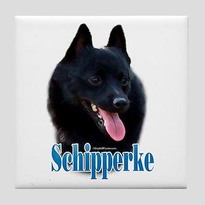 Schipperke Name Tile Coaster