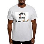 Cat Love Comes Ash Grey T-Shirt