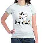 Cat Love Comes Jr. Ringer T-Shirt