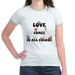 Cat Love Comes Jr. Ringer T-Shirt
