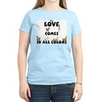 Cat Love Comes Women's Pink T-Shirt
