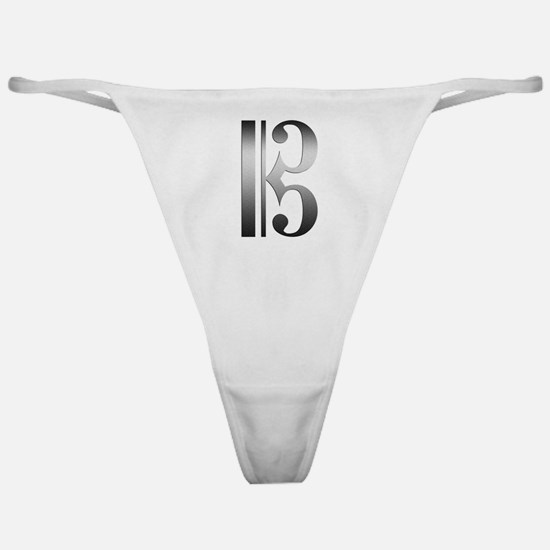 """""""Silver"""" C Clef Classic Thong"""