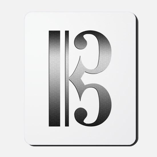 """""""Silver"""" C Clef Mousepad"""