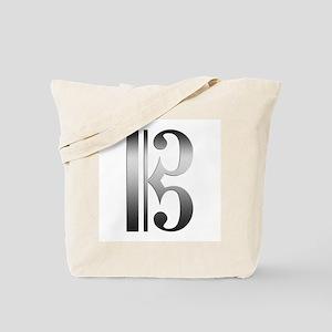 """Silver"" C Clef Tote Bag"