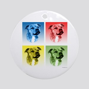 Staffy Pop Ornament (Round)