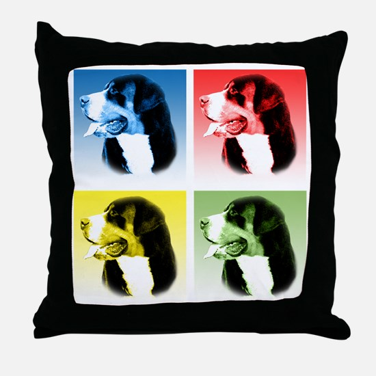 Swissy Pop Throw Pillow