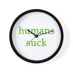 humans suck Wall Clock