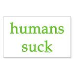 humans suck Sticker (Rectangle 10 pk)