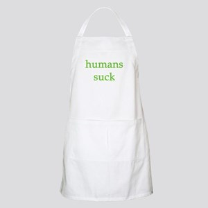 humans suck Apron