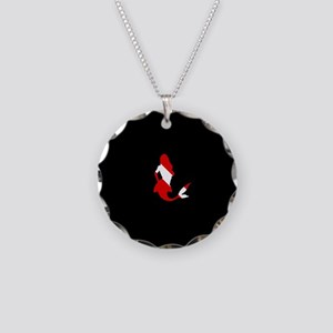 Diving Flag: Mermaid Necklace Circle Charm