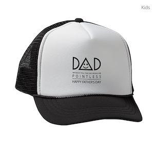 351229402ab Funny Dad Kids Trucker Hats - CafePress