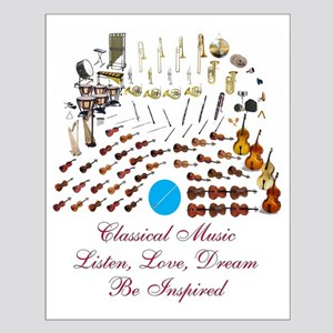Classical Music-Be Inspired Small Poster