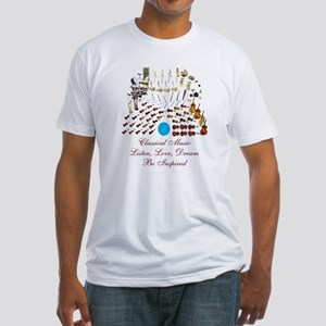 Classical Music-Be Inspired Fitted T-Shirt
