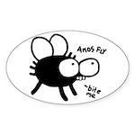 Amos Fly Oval Sticker