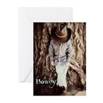 Howdy Cowboy Greeting Cards (Pk of 20)