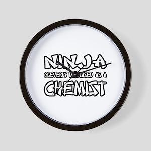 """Ninja...Chemist"" Wall Clock"