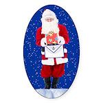 Masonic Santa Oval Sticker