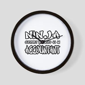 """Ninja...Accountant"" Wall Clock"