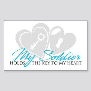 Key to my Heart Rectangle Sticker