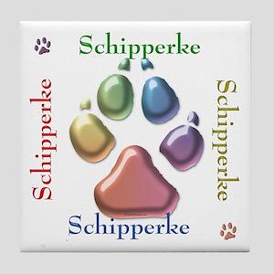 Schipperke Name2 Tile Coaster