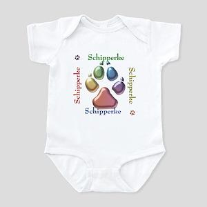 Schipperke Name2 Infant Bodysuit