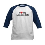 I Love my Lola and Lolo Kids Baseball Jersey