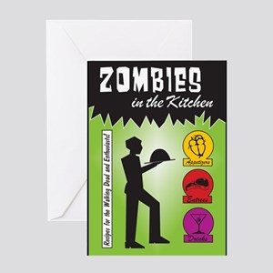 Zombies Cook Greeting Card