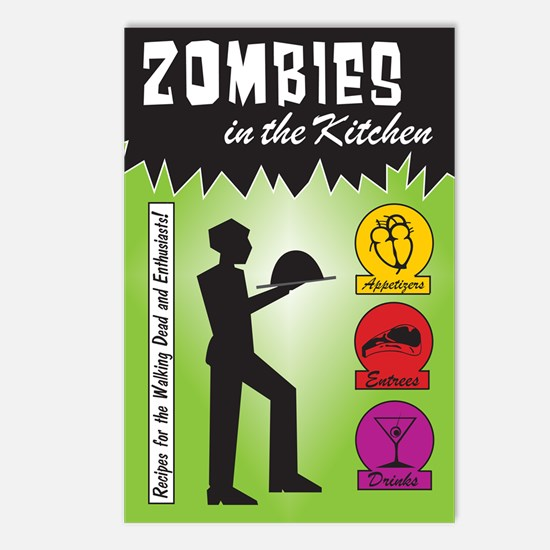 Zombies Cook Postcards (Package of 8)