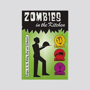 Zombies Cook Rectangle Magnet