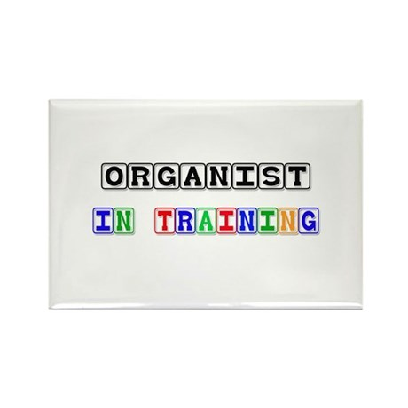 Organist In Training Rectangle Magnet (10 pack)