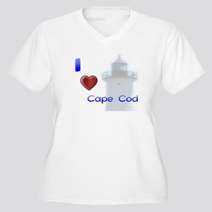 Love Cape Cod Women's Plus Size V-Neck T-Shirt