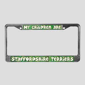 My Children AmStaff License Plate Frame