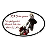 Natural Selection Oval Sticker (10 pk)