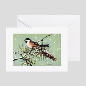 Chickadee Bird Greeting Cards