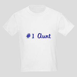 #1 Aunt Kids Light T-Shirt
