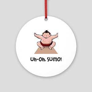 Uh Oh Sumo Ornament (Round)