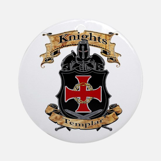 Knights Templar Round Ornament
